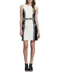 Milly Tweed-Trim Wool Dress at Neiman Marcus