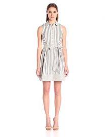 Milly Women s Breton Stripe Sleeveless Shirtdress at Amazon