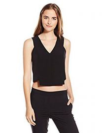 Milly Women s Italian Cady Vneck Shell at Amazon