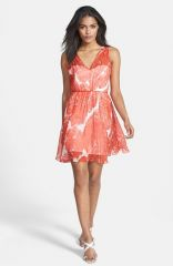 Milly and39Annaand39 Print Silk Fit andamp Flare Dress at Nordstrom