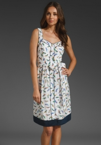 Milly parakeet print dress at Revolve