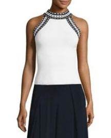 Milly woven trim top at Saks Fifth Avenue