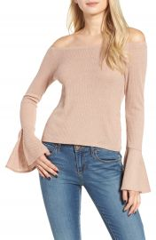 Mimi Chica Ribbed Off the Shoulder Top at Nordstrom