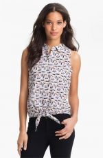 Mina tie front top by equipment at Nordstrom