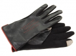 Mindy's black leather gloves at Zappos