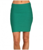 Mindy's green bandage skirt by BCBGMAXAZRIA at 6pm