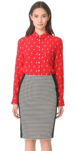 Mindys red boat print shirt at Shopbop