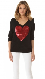 Mindys' sequin heart sweate at Shopbop