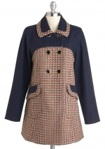 Mindy's tweed coat from Modcloth at Modcloth