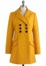 Mindy's yellow coat on The Mindy Project at Modcloth