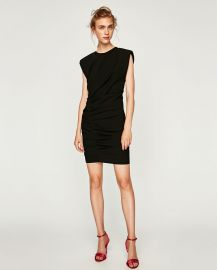 Mini Draped Dress at Zara