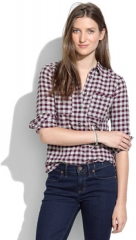 Mini Check Market Popover at Madewell