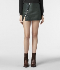 Mini Lucille Leather Skirt at All Saints