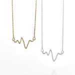 Mini heart beat necklace at Sarah & Chloe
