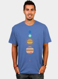 Minimal Solar System Tshirt at Design by Humans