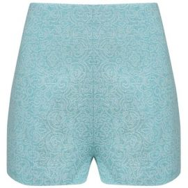 Mint Jacquard High Waisted Shorts by AWAKE at Avenue 32