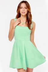 Mint green dress at She Inside