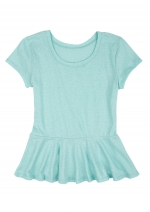 Mint green peplum tee at Delias at Delias