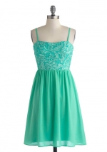 Mint lace dress at Modcloth