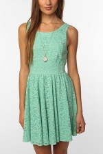 Mint lace dress from Urban Outfitters at Urban Outfitters