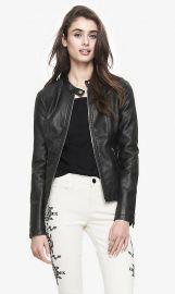 Minus The Leather Ribbed Yoke Jacket at Express