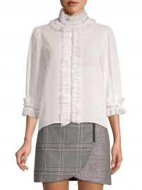Mira Embellished Ruffle Blouse at Saks Fifth Avenue