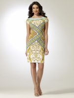 Mirrored Status Print Dress at Cache at Cache