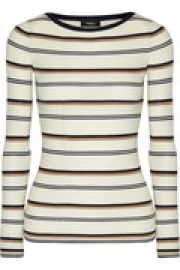 Mirzi M ribbed striped merino wool top at The Outnet