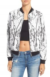 Missguided Marble Bomber Jacket at Nordstrom