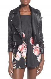 Missguided Zazula Faux Leather Moto Jacket at Nordstrom