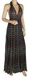 Missoni Women s Lurex Zigzag Halter Maxi Dress at Amazon
