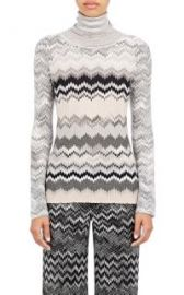 Missoni Zigzag-Knit Turtleneck Sweater at Barneys