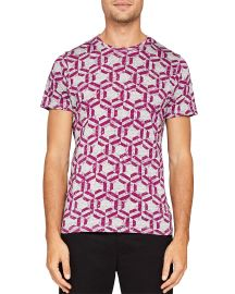 Mitch Hexagon Print Tee at Bloomingdales