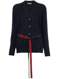 Miu Miu Gingham Belt Cardigan  895 - Buy AW17 Online - Fast Global Delivery  Price at Farfetch