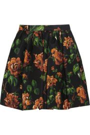 Miu MiuandnbspandnbspFloral-print silk-faille mini skirt at Net A Porter