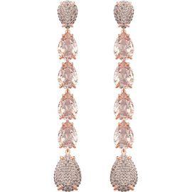 Mix Pierced Earrings in Pink Rose Gold Plating at Swarovski