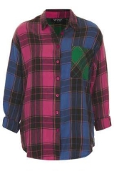Mix and Match Check Shirt at Topshop
