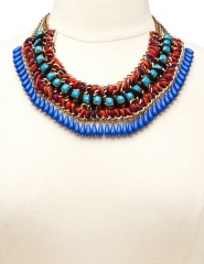 Mixed Media Bib Necklace at Charlotte Russe