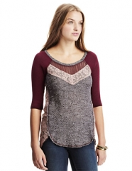 Mixed Media Lace Top by Free People at Lord & Taylor