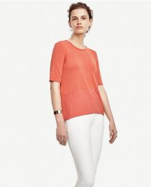 Mixed Media Peplum Top at Ann Taylor