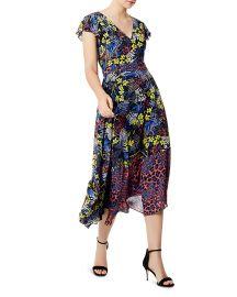 Mixed Print Lace-Up Midi Dress by Karen Millen at Bloomingdales