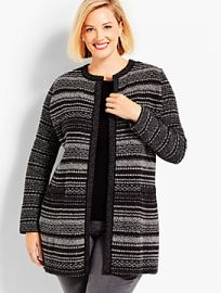 Mixed-Stitch Sparkle Topper by Talbots at Talbots