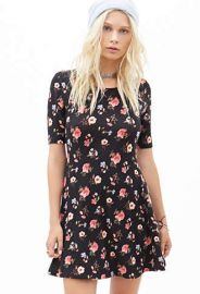 Mixed floral dress at Forever 21