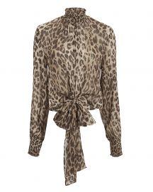Mock Neck Leopard Blouse by Nicholas at Intermix
