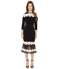 Mod Lace Combo Knit Dress by Yigal Azrouel at Zappos Luxury