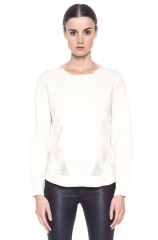 Modern Borders Sweater by Helmut Lang at Forward by Elyse Walker