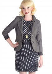 Modern Lit Lecturer Blazer in Grey at ModCloth