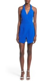 Modiste Dresses Asymmetrical Halter Romper at Nordstrom