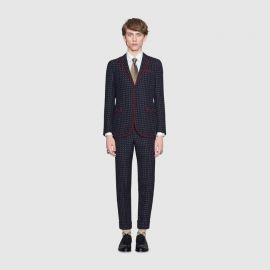 Monaco Geometric Pattern Wool Suit by Gucci at Gucci