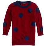 Mona's polka dot sweater from JCrew at J. Crew